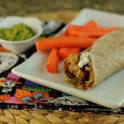 Red Beans and Rice Burritos