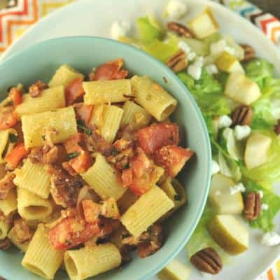 Rigatoni with Smoky Bacon and Tomatoes