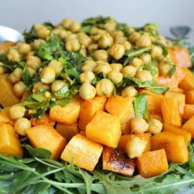 Roasted Squash and Marinated Chickpea Salad