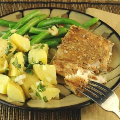 Roasted Halibut with Balsamic Marinade