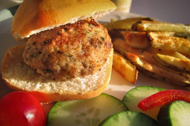 Sauteed Mini Chicken Burgers