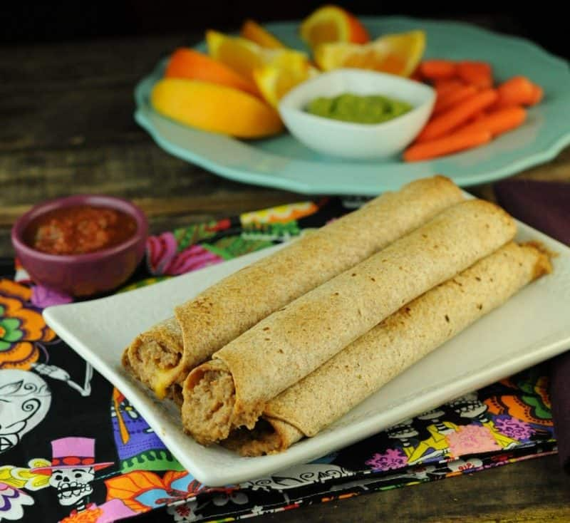 Totally Tubular Taquitos with Condiments