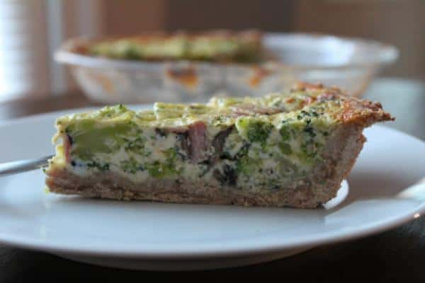 Whole Wheat Broccoli, Mushroom, and Cheese Quiche