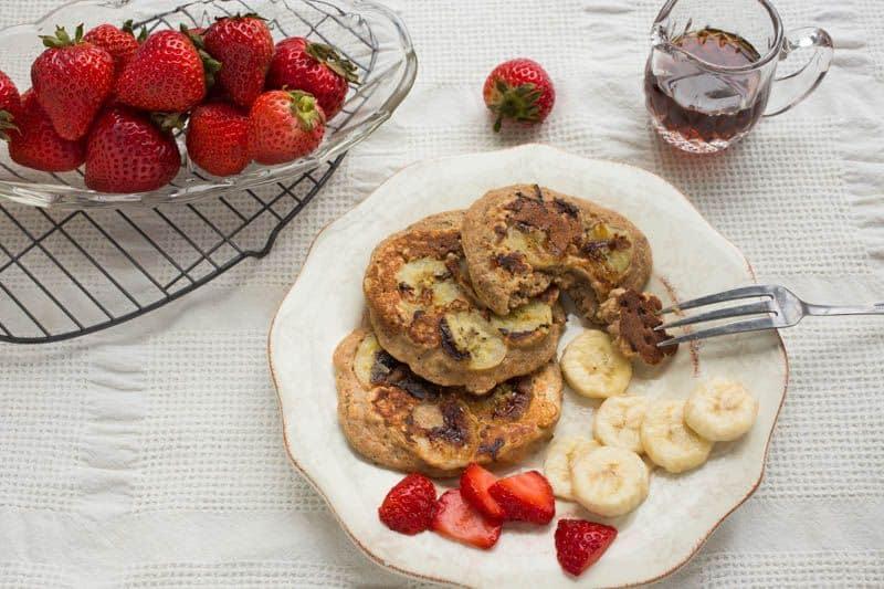 Whole Wheat Chia Banana Pancakes