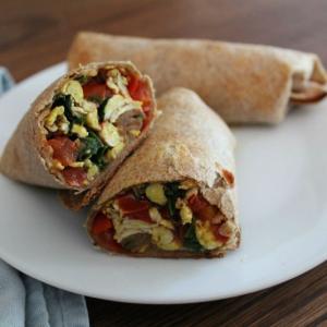 Veggie-Packed Breakfast Burritos