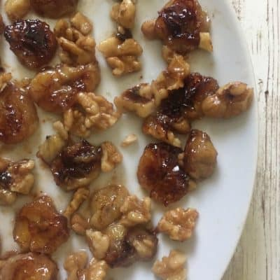 Caramelized Bananas with Walnuts and Maple Syrup