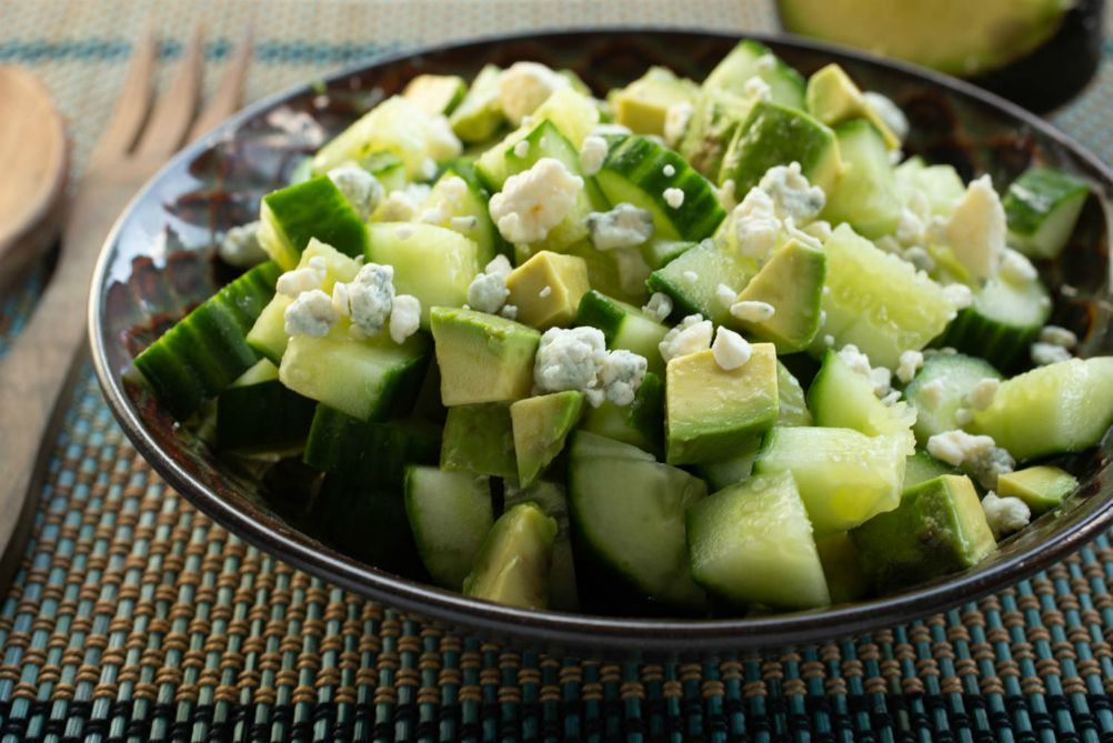 Chopped Cucumber and Avocado Salad