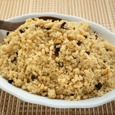 Couscous with Toasted Pine Nuts and Currants or Raisins