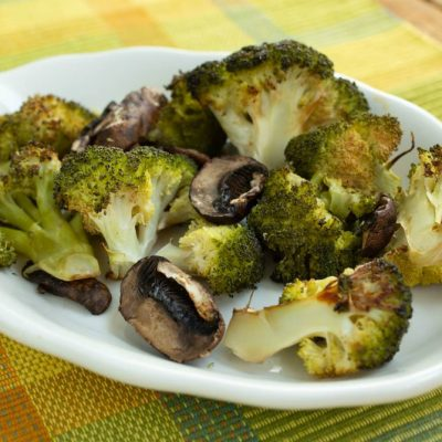 Roasted Broccoli and Mushrooms