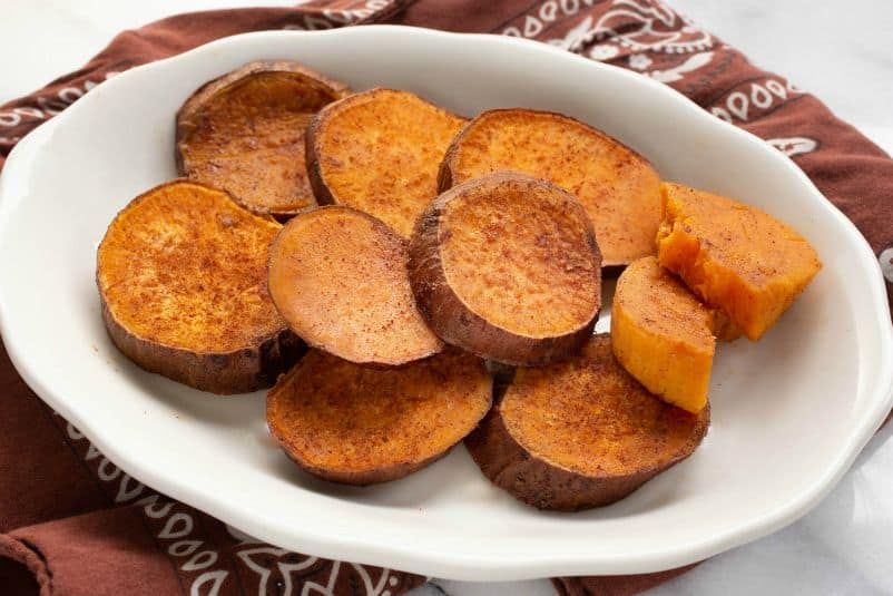 Roasted Sweet Potato Slices The Scramble