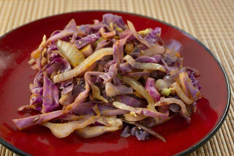 Sauteed Cabbage with Sweet Onions and Curry