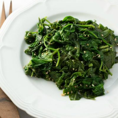 Sesame-Soy Spinach