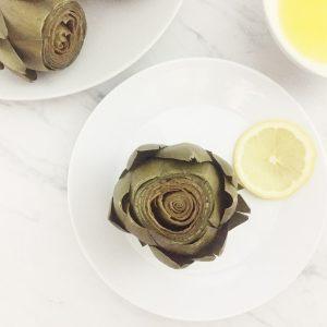 Quick-Steamed Artichokes with Lemon Butter Sauce