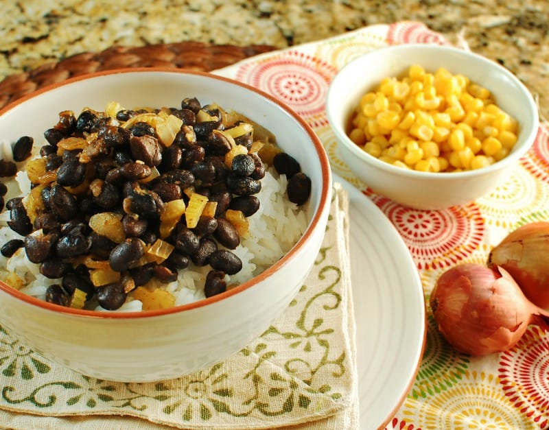 Orange Cumin Black Beans Over Rice
