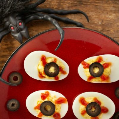 Deviled Eyes (Deviled Eggs for Halloween)
