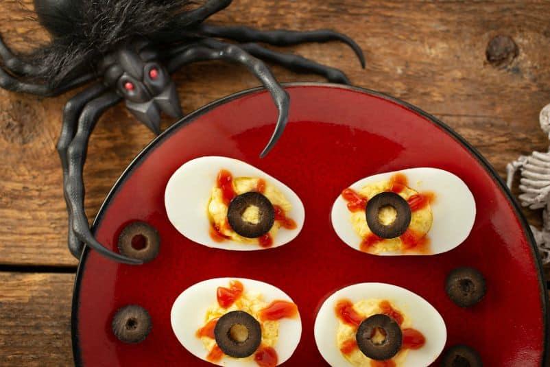 Deviled Eyes (Deviled Eggs for Halloween)