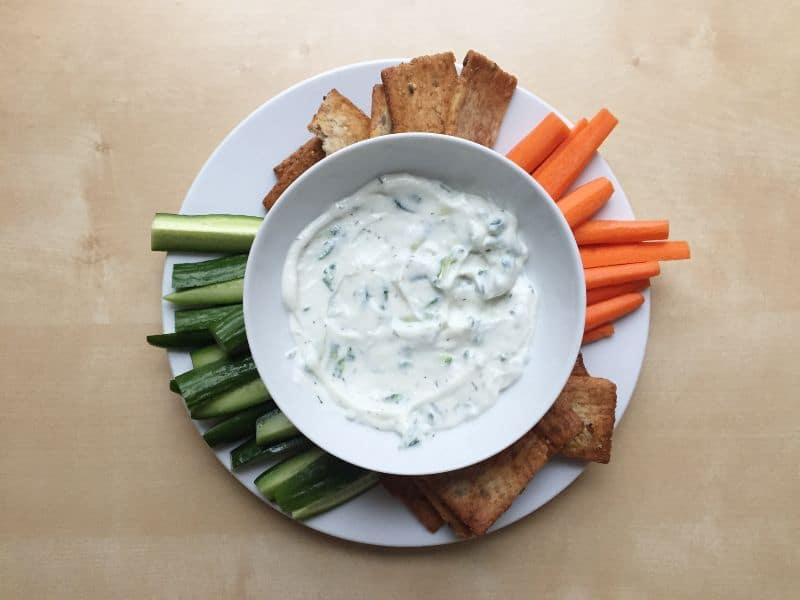 Tzatziki (yogurt and cucumber sauce)